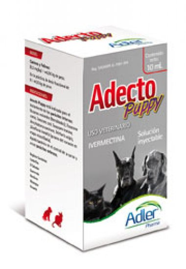 Adecto Puppy 1% - Ivermectin 10 ml.